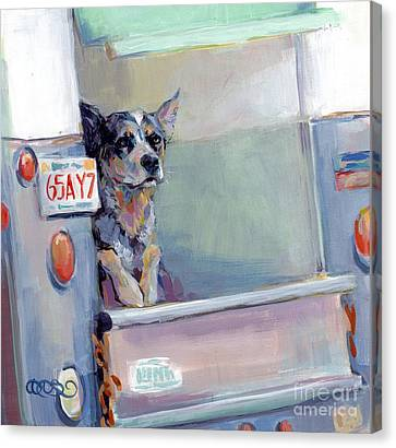 Acd Delivery Boy Canvas Print by Kimberly Santini