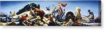 Achelous And Hercules Canvas Print by Pg Reproductions