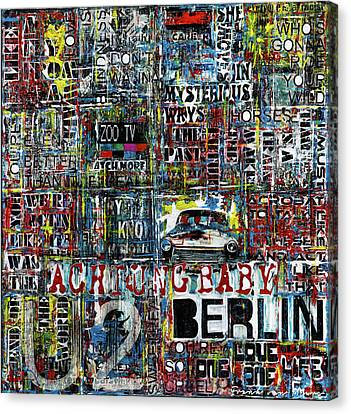 Achtung Baby Canvas Print by Frank Van Meurs