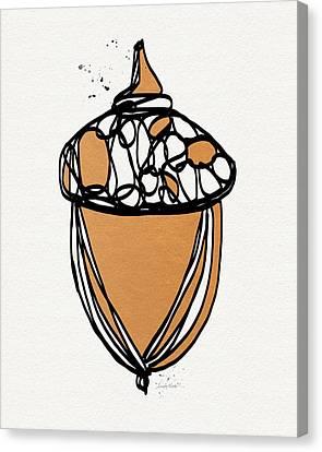 Acorn- Art By Linda Woods Canvas Print by Linda Woods