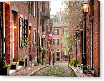 Acorn Street Canvas Print by Susan Cole Kelly