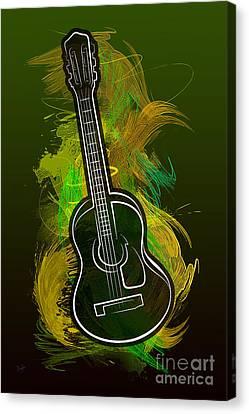 Acoustic Craze Canvas Print by Bedros Awak