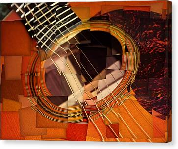Acoustic Cubism Canvas Print by Dan Sproul