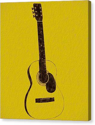 Acoustic Guitar Canvas Print by Dan Sproul