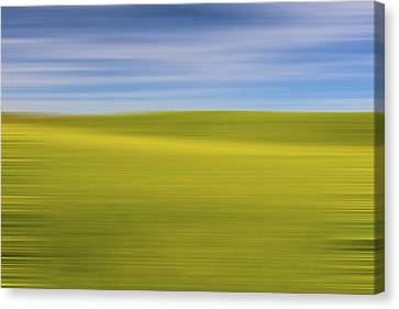 Acreage Of Yellow X Canvas Print by Jon Glaser