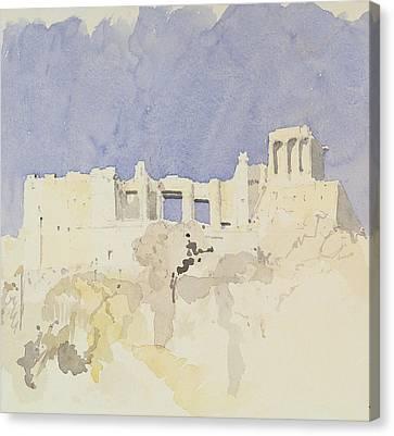 Acropolis   Athens Canvas Print by Charlie Millar