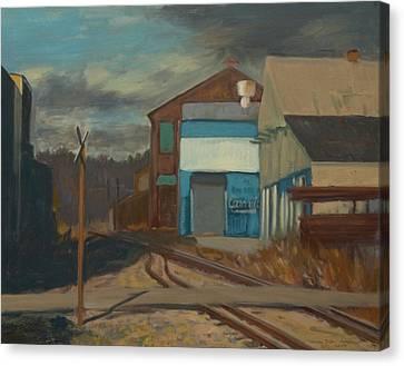 Across The Tracks Canvas Print by Martha Ressler