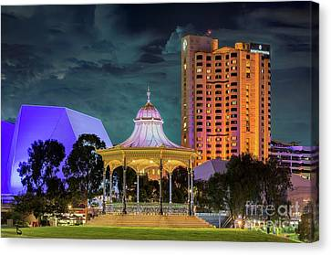 Adelaide At Night Canvas Print by Ray Warren