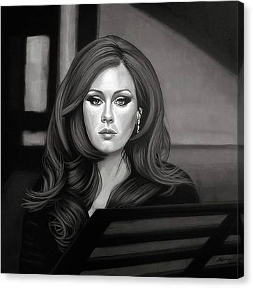 Adele Mixed Media Canvas Print by Paul Meijering