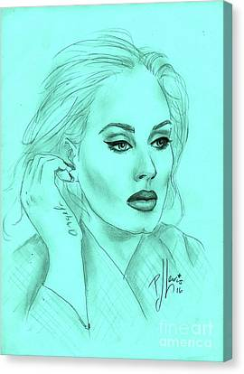 Adele Canvas Print by P J Lewis