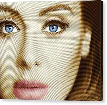 Adele Painting Circle Pattern 1 Canvas Print by Tony Rubino