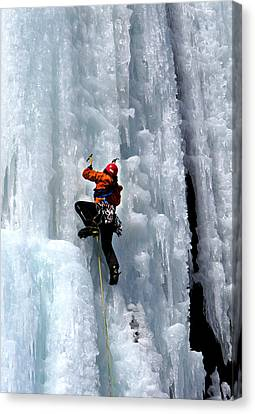 Adirondack Ice Climber  Canvas Print by Brendan Reals