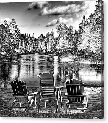 Adirondack Reflections Canvas Print by David Patterson