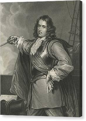 Admiral Blake Canvas Print by Henry Perronet Briggs
