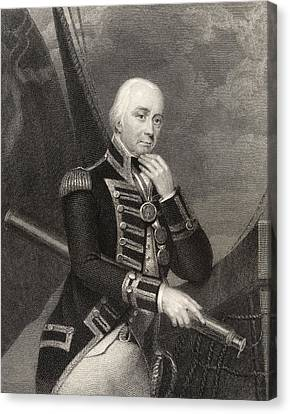 Admiral Lord Cuthbert Collingwood 1st Canvas Print by Vintage Design Pics