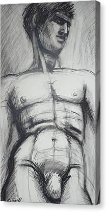 Adonis - Male Nude  Canvas Print by Carmen Tyrrell