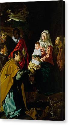 Adoration Of The Kings Canvas Print by Diego rodriguez de silva y Velazquez