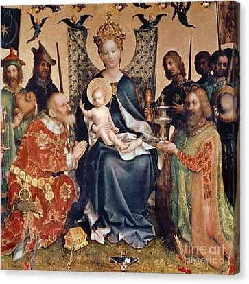 Adoration Of The Magi Altarpiece Canvas Print by Stephan Lochner