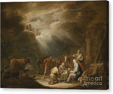 Adoration Of The Shepherds Canvas Print by Celestial Images