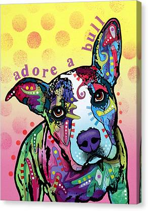 Adoreabull Canvas Print by Dean Russo