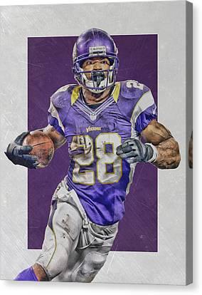 Adrian Peterson Minnesota Vikings Art 4 Canvas Print by Joe Hamilton
