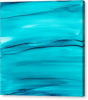Adrift In A Sea Of Blues Abstract Canvas Print by Nikki Marie Smith