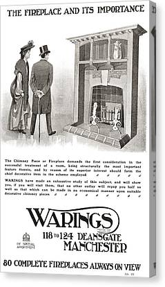 Advertisement For An Early 20th Century Canvas Print by Vintage Design Pics