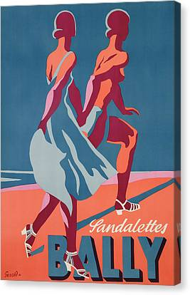 Advertisement For Bally Sandals Canvas Print by Druck Gebr