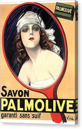 Advertisement For Palmolive Soap Canvas Print by Emilio Vila