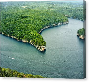 Aerial Image Of  Long Point Cliff Canvas Print by Mark Allen