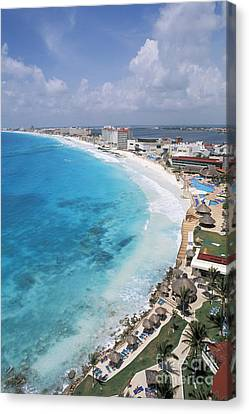 Aerial Of Cancun Canvas Print by Bill Bachmann - Printscapes