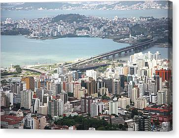 Aerial View Of Florianópolis Canvas Print by DircinhaSW