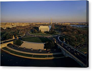 Aerial View Of Lincoln Memorial Canvas Print by Kenneth Garrett