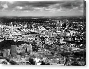 Aerial View Of London 6 Canvas Print by Mark Rogan