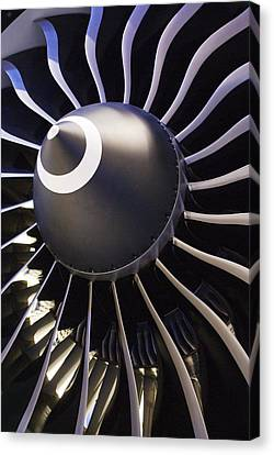 Aeroplane Engine Canvas Print by Mark Williamson
