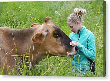 Affection And Fondness - A Candid Portrait Canvas Print by Marty Saccone
