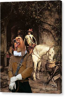 Afghan Hound-at The Tavern Canvas Fine Art Print Canvas Print by Sandra Sij