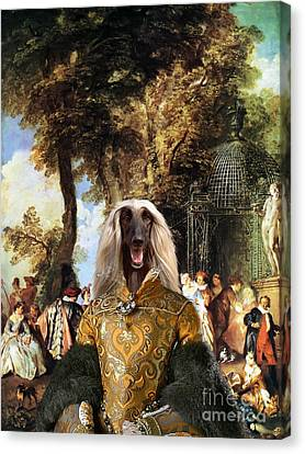 Afghan Hound-the Winch Canvas Fine Art Print Canvas Print by Sandra Sij