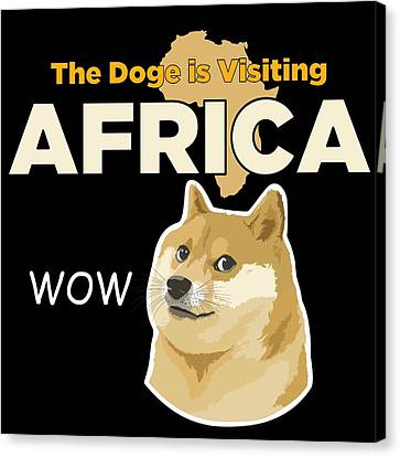 Africa Doge Canvas Print by Michael Jordan