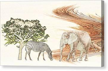 Africa Canvas Print by Sharon Lisa Clarke