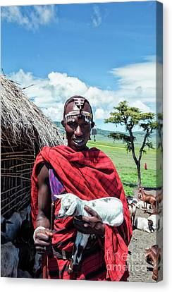 African Maasai No4279 Canvas Print by Amyn Nasser