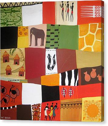 African Matrix Canvas Print by Pat Barker