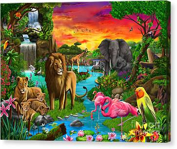 African Paradise Canvas Print by Gerald Newton