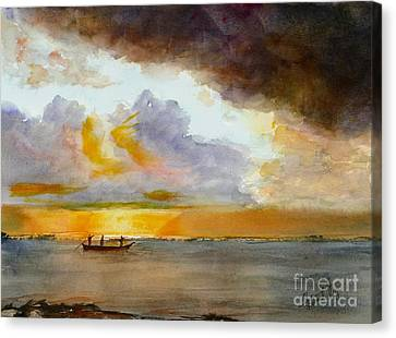 African Sunrise Canvas Print by Mohamed Hirji