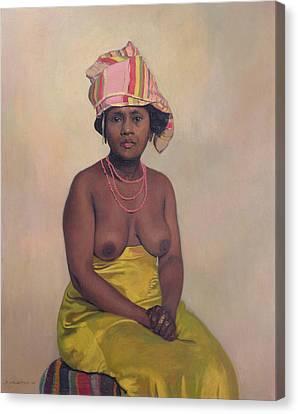 African Woman Canvas Print by Felix Edouard Vallotton