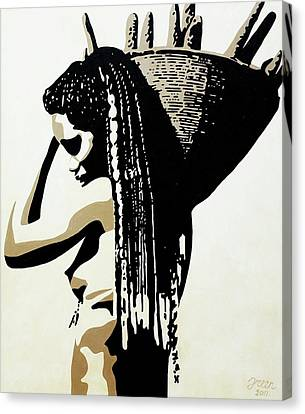 African Woman With Basket Canvas Print by Irene Jonker