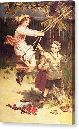 After School Canvas Print by Frederick Morgan