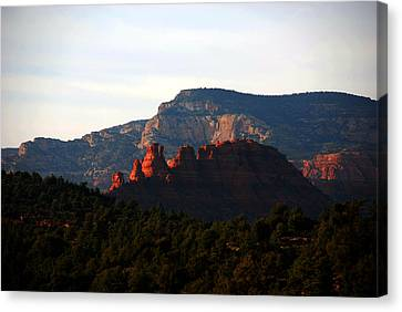 After Sunset In Sedona Canvas Print by Susanne Van Hulst