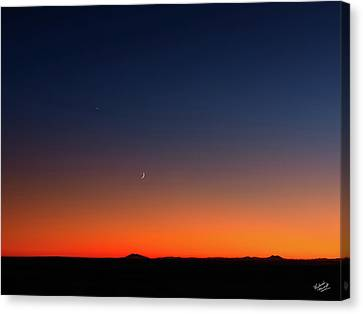After Sunset Canvas Print by Leland D Howard