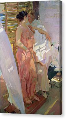 After The Bath Canvas Print by Joaquin Sorolla y Bastida